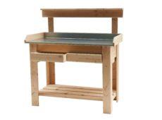 11585-Basic-Tuinwerktafel-Douglas-met-zinken-blad-tuindecoratie houthandel woertink rheeze ommen hardenberg woodvision hillhout (2)